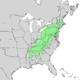 Castanea dentata range map 1.png