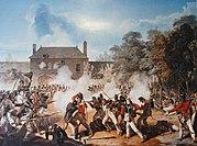 Castello di Hougoumont durante la battaglia di Waterloo.jpg