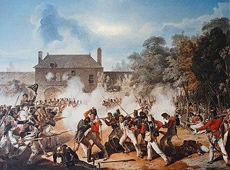 Hougoumont - Fighting at the Hougoumont farm during the Battle of Waterloo