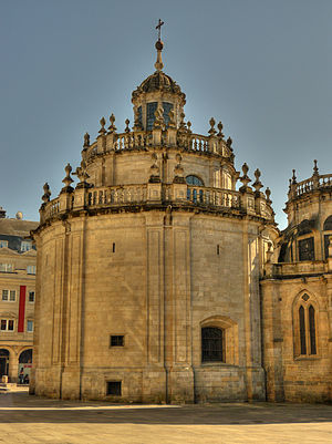 Lugo Cathedral - Rear view.