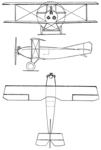 Caudron C.67 3-view Les Ailes May 25,1922.png