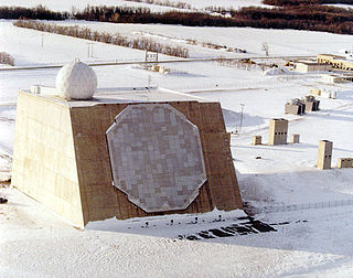 AN/FPQ-16 PARCS phased-array radar system located in North Dakota, United States