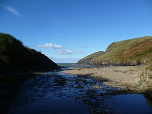 Ceibwr Bay - Ceibwr Cove and former harbour; Ceibwr Bay beyond