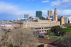Central railway station, Sydney - Central Station viewed from the western forecourt in 2017
