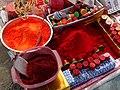 Ceremonial Dye Powder - Magh Mela Festival - Sangam Site - Allahabad - Uttar Pradesh - India (12590033403).jpg