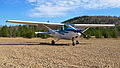 Cessna 172 on ground at St-Michel-des-Saints.jpg