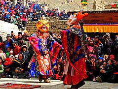Cham dance during Dosmoche festival in Leh Palace DSCN5692 1.jpg