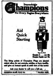 Champion (spark plug) American brand of spark plug