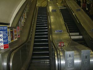 Chancery Lane tube station - Image: Chancery Lane Shortest escalator