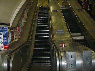 Chancery Lane tube station - Image: Chancery Lane Shortest escalator