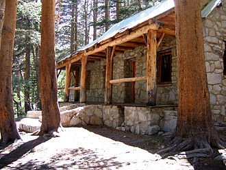 Big Pine Creek (California) - The historic landmark Lon Chaney—Paul Williams cabin on the North Fork Big Pine Creek.