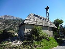 Chapelle des Guérins, Les Thuiles, chevet.JPG