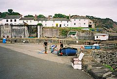 Charlestown Harbour cottages fishermen St Austell Cornwall.jpg