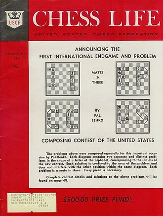 Chess Life - Chess Life, February 1968, cover before the merger with Chess Review