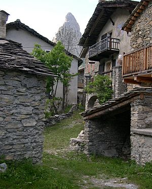 Acceglio - Chiappera, a hamlet within the commune