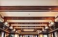 Chicago, robie house di frank lloyd wright, 1908-1910, salone al primo piano, 07 soffitto.jpg