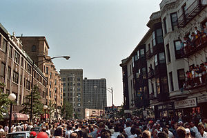Pride parade - Pride march in Lakeview, Chicago in 1985