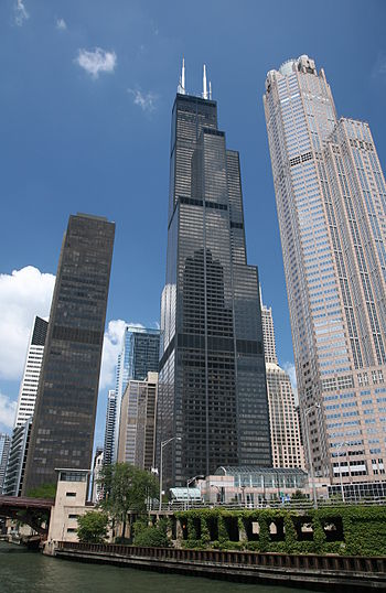 Willis Tower (formerly Sears Tower) in Chicago...