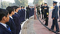 Chief of Air Staff ACM NAK Browne and Chief of Naval Staff Adm DK Joshi interacting with school children at India Gate.JPG