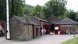 Cromford and High Peak Railway - Workshops and offices at High Peak Junction – the original southern terminus, before extension of the line to the former Midland Railway now the Derwent Valley Line