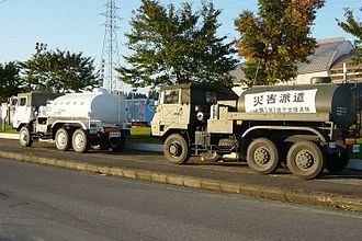 2004 Chūetsu earthquake - Disaster relief convoy of the Japan Self-Defense Forces