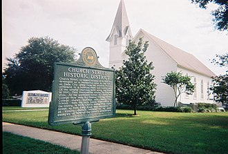 National Register of Historic Places listings in Pasco County, Florida - Image: Church St Hist Dist Dade City