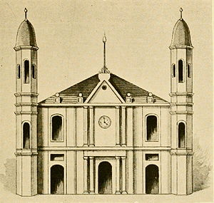 St. Louis Cathedral (New Orleans) - Church of St. Louis in 1794, the year after it became a cathedral