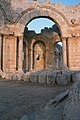 Church of Saint Simeon Stylites, Qalat Sem'an Complex (قلعة سمعان), Syria - Pier arch in octagon with trapezoidal chapel in the background - PHBZ024 2016 0678 - Dumbarton Oaks.jpg