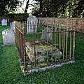 Church of St Mary the Virgin, Sheering, Essex ~ churchyard tomb and wall.jpg