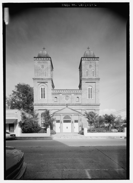 File:Church of the Immaculate Conception, 145 Church Street, Natchitoches, Natchitoches Parish, LA HABS LA,35-NATCH,2-2.tif