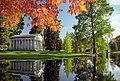 "Cincinnati - Spring Grove Cemetery & Arboretum ""Fleischman Mausoleum - Autumn Burst"" (10464292716).jpg"
