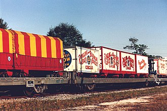 Ringling Bros. and Barnum & Bailey Circus - Circus train rolling through Safety Harbor, Florida