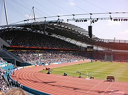 The City of Manchester Stadium during the 2002 Commonwealth Games