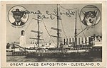 City of New York, Byrd's ship at the Great Lakes Exposition, Cleveland, Ohio in 1936.jpg