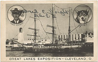 Great Lakes Exposition - City of New York, Byrd's ship at the Exposition