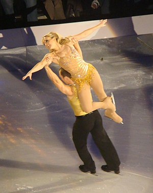 Clare Buckfield - Clare Buckfield performing with Lukasz Rozycki on the Dancing on Ice tour in 2010.