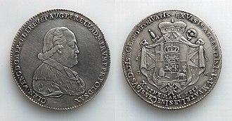 "Clemens Wenceslaus of Saxony - ""Kontributionstaler"" (1794)"