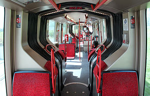 Clermont-Ferrand tramway - Interior view of the tram.