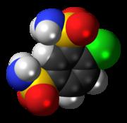 Ball-and-stick model of clofenamide