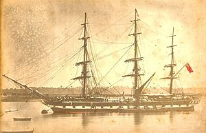 Blackwall frigate - The semi-clipper Clyde (1860) 1151 tons