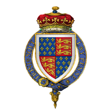 Coat of Arms of Thomas of Woodstock, 1st Duke of Gloucester, KG.png