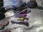 Набор инструментов индийского сапожника с железной киянкой
