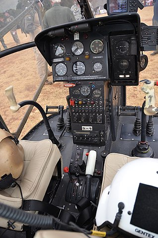 Cockpit of Sud Aviation SE.3130 Alouette II ZU-ALO in South Africa
