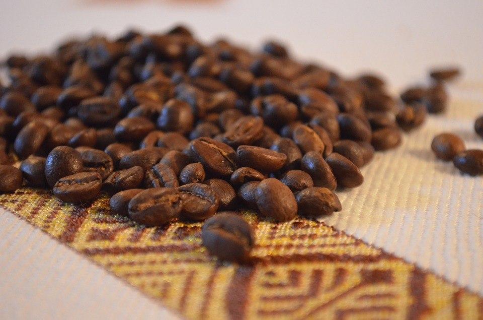 Coffee beans ethiopia culture africa fabric