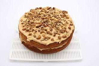 Coffee cake - British Coffee walnut cake
