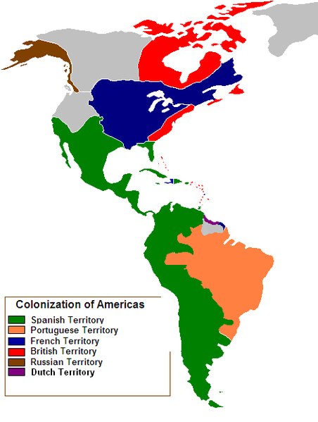 File:Colonization of the Americas 1750.PNG