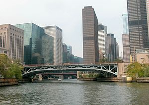 Congress Parkway - The Congress Parkway Bridge over the Chicago River