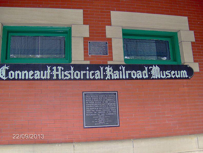 File:Conneaut Depot signage.jpg
