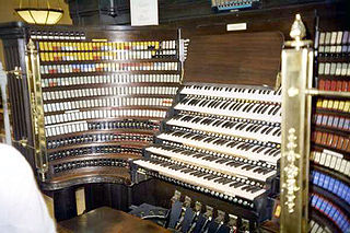 Organ console musical instrument part