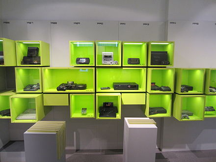 Gaming consoles at the Computer Games Museum in Berlin Consoles-computerspielemuseum.jpg